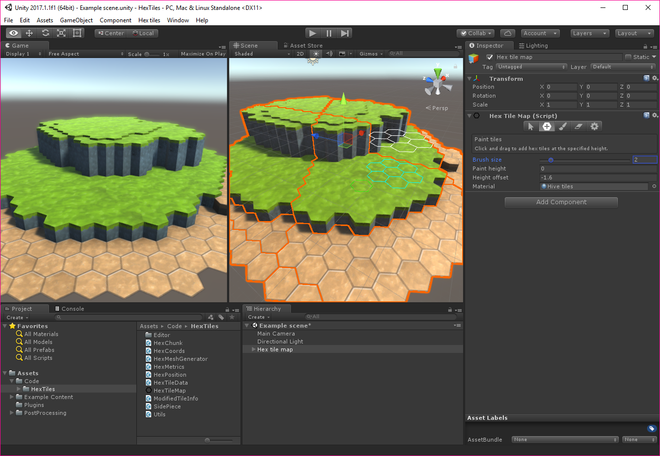 Unity Hex Tile Editor